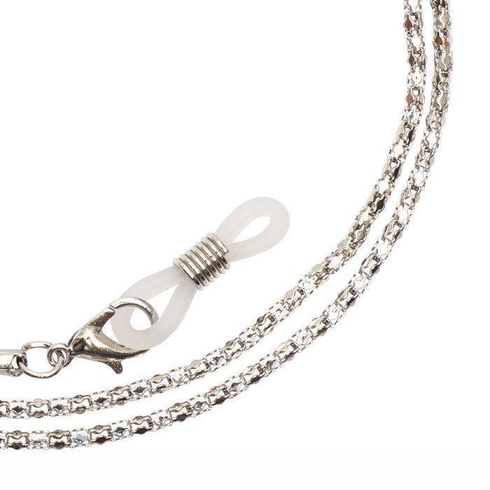 23e624ea5bf24c Metalowy łańcuszek do okularów SIENNA - 3 szt. srebrny | SALON ...