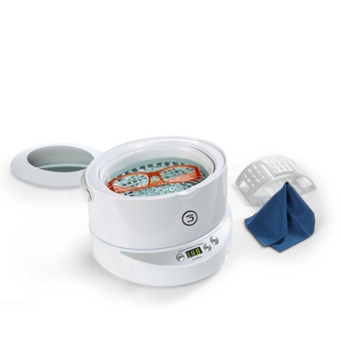 Myjka Ultradźwiękowa Do Okularów Z Wyjmowaną Wanienką 0 6 L Koncentrat Czyszczący